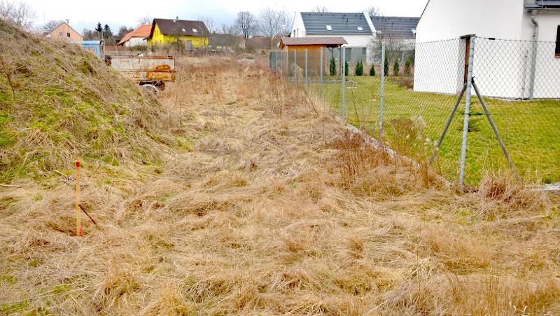 Polohopisné a výškopisné zaměření stavební parcely v obci Kyšice